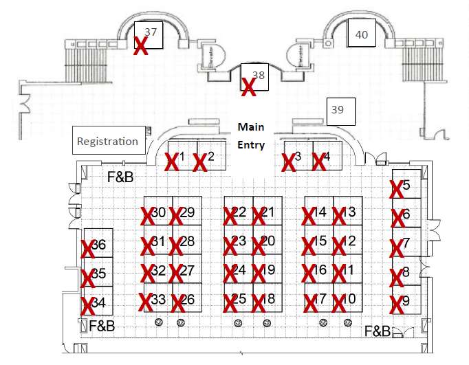 Become an exhibitor for Trade show floor plan